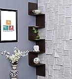 Furniture Cafe Zigzag Corner Wall Mount Shelf Unit/Racks and Shelves/Wall Shelf/Book Shelf/Wall...