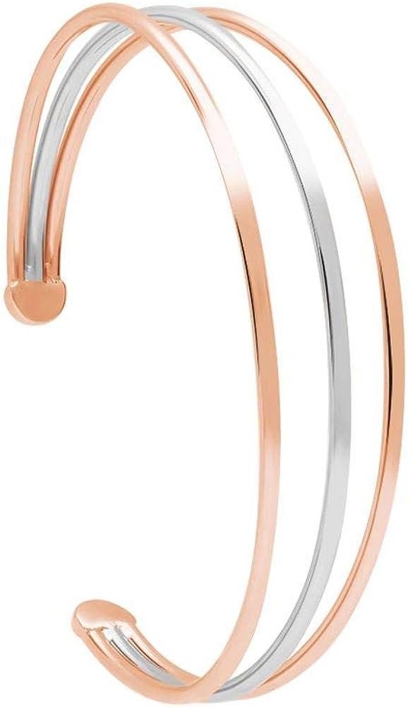 Stroili  bracciale bangle in acciaio inossidabile ed è di colore ramato e argentato. 1664549