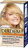 Diadem Seiden-Color-Creme, Haarfarbe 711 Hellblond Stufe 3, 3er Pack(3 x 170 ml)