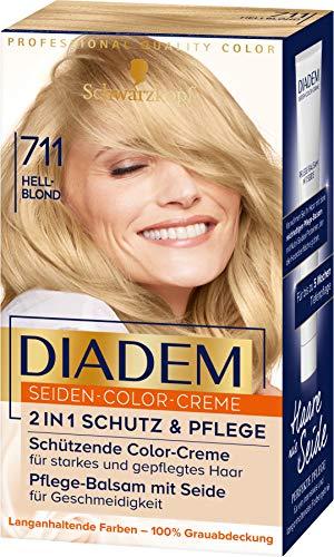 Diadem Seiden-Color-Creme 711 Hellblond Stufe 3, 3er Pack(3 x 170 ml)