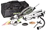 """Genesis GPCS535CK 5.8 Amp 3 1/2"""" Control Grip Plunge Compact Circular Saw Kit with Laser, Miter Base, 3 Assorted Blades, Vacuum Adapter Hose, Rip Guide and Carrying Bag"""