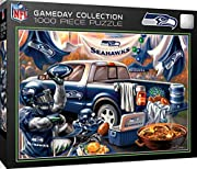 officially licensed nfl product 1000 pieces in finished 19.25 inch by 26.75 inch puzzle suitable for framing when assembled thick recycled puzzle board and random cut pieces ensure a tight interlocking fit and create a fun experience masterpieces - a...