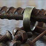 Carpe Diem Jewellery Mens Wedding Band Ring Rustic Antique Oxidized Brass Custom Engraved Men's Wedding Band Men Wedding Band Personalized Ring Gold Wedding Band Mens Wedding Ring Unique Wedding Band