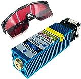 Testa del modulo laser da 40 W, testa laser da 450 nm, incisore laser a luce blu, taglio di compensato e incisione su metallo, per CNC 3018 Pro o LM2 (33 mm)