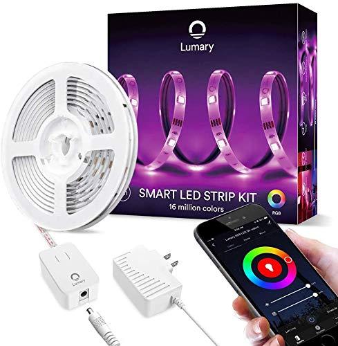 Strisce LED Lumary 3M Wi-Fi RGB LED Strip 5050 dimmerabile, compatibile con Alexa, Google Home, funzione timer, luce a nastro per Natale. [Classe di efficienza energetica A +]