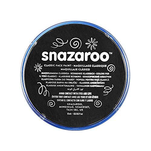 Snazaroo- Pintura facial y Corporal, 18 ml, Color negro, Adult One Size (Colart 18111)