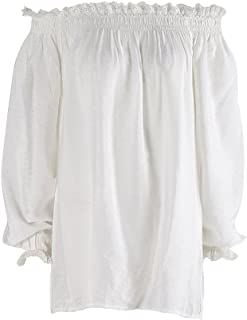 Women's Vintage Victorian Caribbean Tunic Medieval Costume Blouse Top