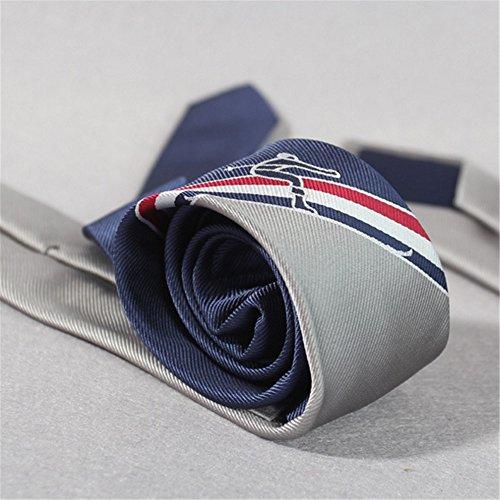 ZSRHH-Neckchiefs Halstücher Herren Krawatte Fun Ski Athlet Logo Jacquard Geschenk Boxed Krawatte