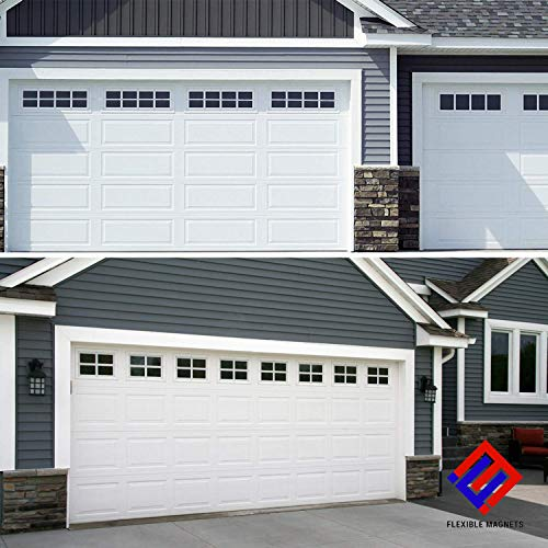 Cheapest Prices! Magnetic Fake Window Panels for Garage Door - Faux Garage Window Magnets - Garage A...