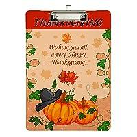 クリップボード A4 クリップファイル クリップホルダ- バインダー 感謝祭 サンクスギビング おしゃれ 人気 用箋ばさみ 用箋挟み