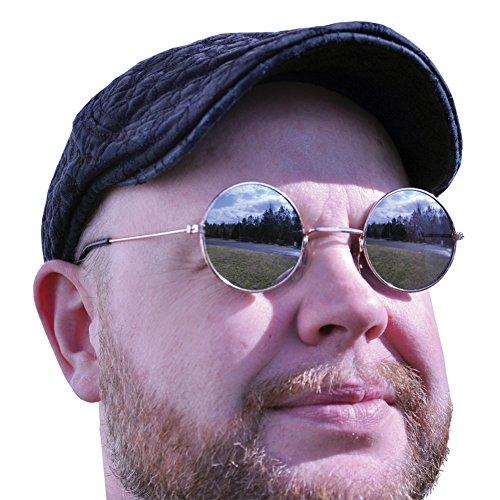 Gafas de sol Hippie con espejo redondo