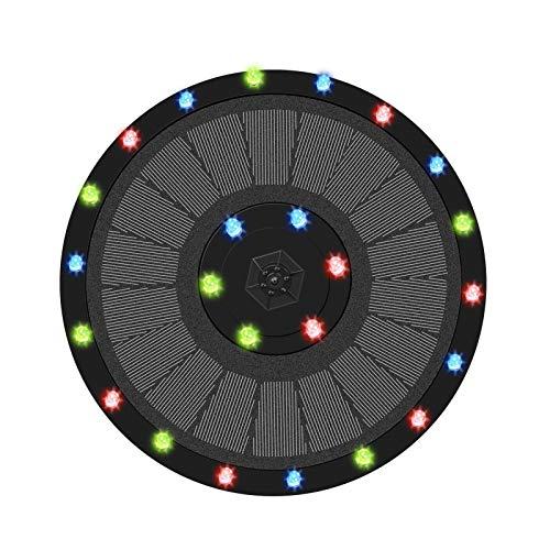 Xuanshengjia - Fuente solar, fuente flotante, fuente solar de LED de 9 V/3,5 W, fuente solar de LED colorida de 9 V/3,5 W, 7 formas de agua, adecuadas para el baño de pájaros, estanques, Cool