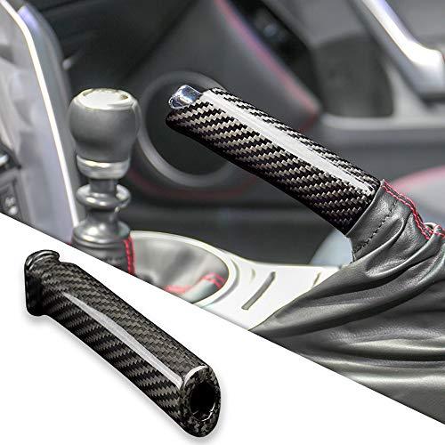 AIRSPEED Carbon Fiber Car Handbrake Cover Replace Grip Handle Lever for Subaru BRZ Toyota 86 Accessories(Black)