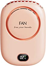 laoonl Mini Fan Handsfree Neck Fan Usb Oplaadbaar Met 3 niveaus Snelheid Multifunctioneel Voor Reizen Sport Kantoor