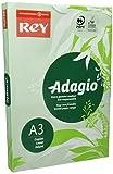 DOHE Rey Agadio – Risma da 500 fogli di Carta Colorata per stampante laser/getto d' inchiostro/copiatrice 80 g Formato A3 verde