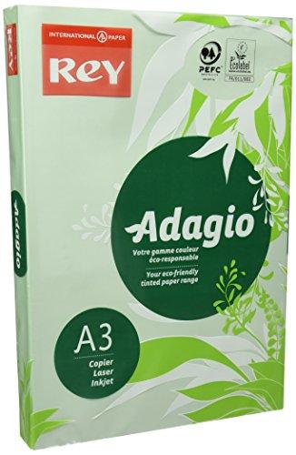 Dohe 30139 - Pack de 500 papeles, DIN A3, 80 g, color verde pastel