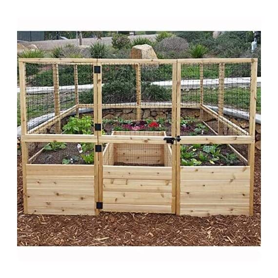 Outdoor Living Today Raised Garden Bed 8 X 12 With Deer Fence Kit Mk Library
