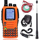 Wouxun KG-UV9D Mate 7 Bands/Air Band 10W 3200mAh Battery Cross Band Repeater Portable Radio Upgrade KG-UV9D Plus Two Way Radio + Programming Cable + Speaker Mic + AR-775 Telescopic Antenna