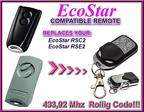 2 RSE, H/örmann Ecostar emisor 433,92 mhz RSC 2