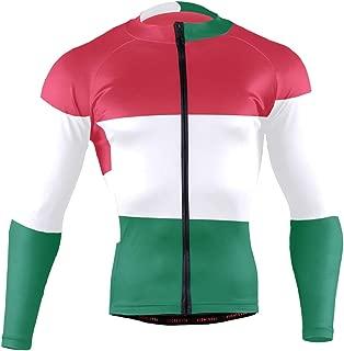 Ainans Greek Flag Men's Cycling Jersey Long Sleeve Bike Jacket Biking Bicycle Jersey Shirt