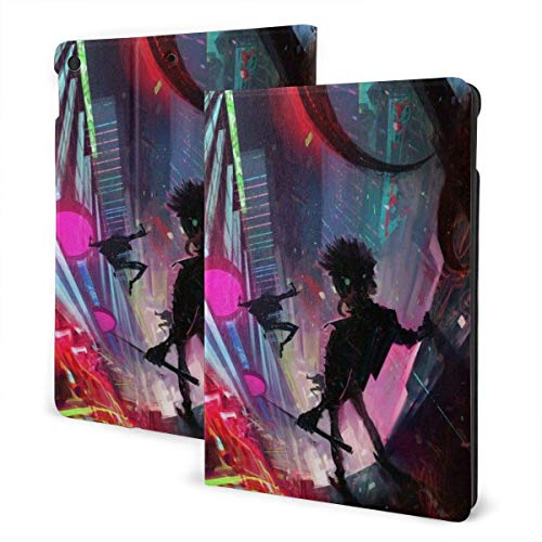 GOSMAO iPad Case Fit iPad 7th Generation 2019, iPad 10.2 Case Neon Towers of The Future City PU Leather Business Cover with Stand Pocket and Auto Wake/Sleep for iPad 10.2'
