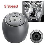 Pomello della leva del cambio compatibile FIAT e cono di montaggio in plastica, con schema del cambio inciso per 5 velocità.