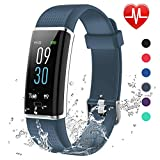Lintelek Connected Watch, Cardiofrequency Activity Tracker with Sleep Monitor, Alarm Clock, Notifications, Bluetooth Pedometer IP73 Waterproof Connected GPS Watch for Women Men