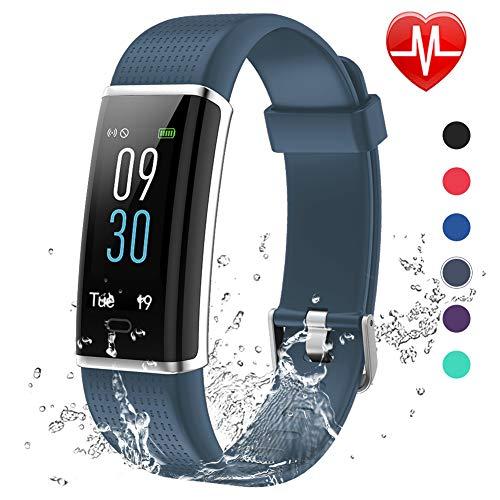 Lintelek Montre Connectée, Tracker d'Activité Cardiofréquencemètre avec Moniteur de Sommeil,...
