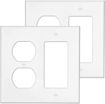 Eaton Wiring Pjs262v Decorator Screwless Wallplate 2 Gang Ivory Switch Plates Amazon Com