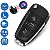 Mini Keychain Camera with Night and Dvr,Aukfa Portable Anti-Theft Car Key Camera Motion-HD 1080P-Built-in Rechargeable Battery for Indoor or Outdoor Home,Office
