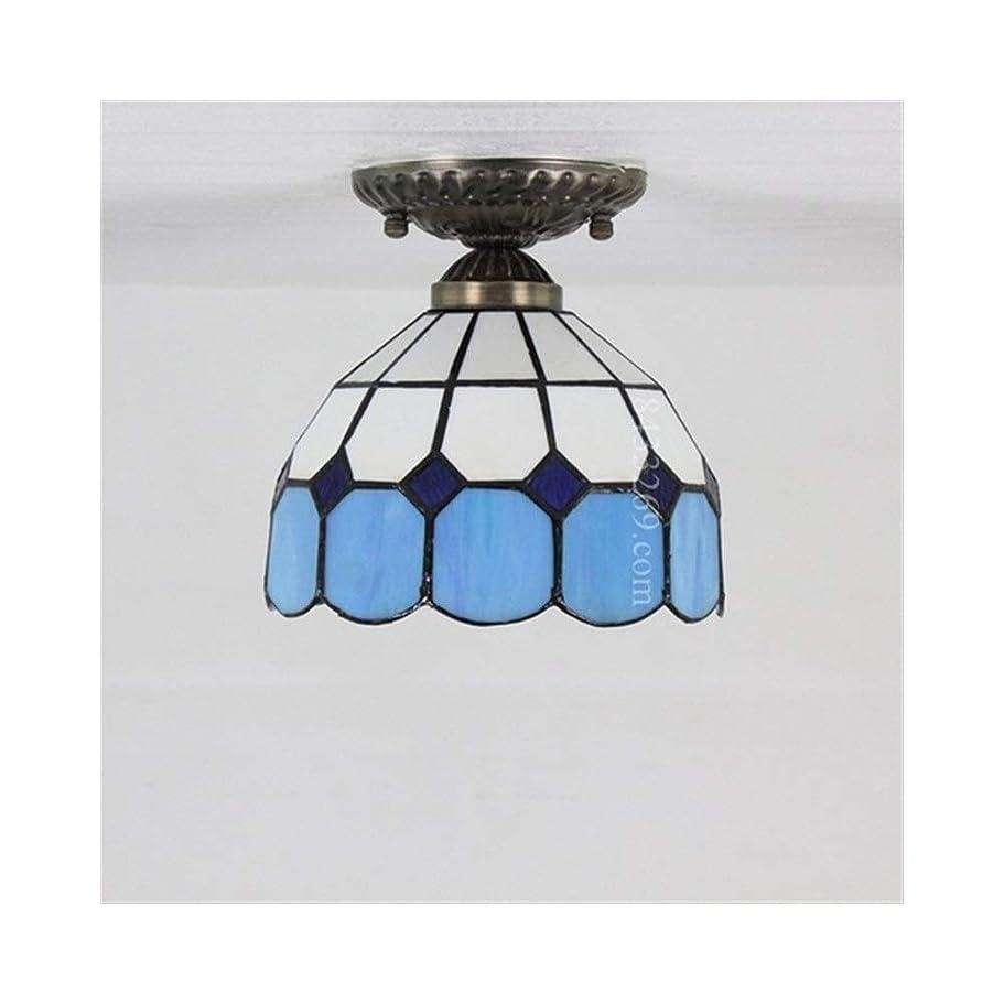 種でるモットー8インチの天井ランプ、家の装飾のためのガラスステンドグラスの手作りの天井灯地中海スタイル