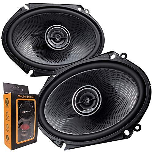 """Pair of Kenwood 6x8"""" 360W 2-Way Coaxial Car Audio Speakers"""