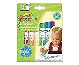Crayola Mini Kids, Pennarelli Super Lavabili, 8 pezzi, Punta Arrotondata di Sicurezza, Età 12 Mesi, Colori Assortiti, 8324