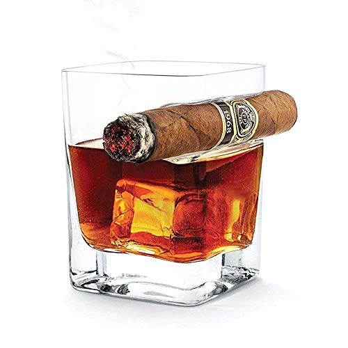 Suytan Cenicero Soporte para Cenicero Soporte para Cenicero de Cristal Europeo para Cigarros, Creativo Vaso para Cigarros de Whi con Soporte para Cigarros Indentado Soporte para Cigarros, Ceniceros I