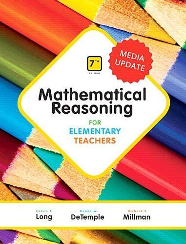 Mathematical Reasoning for Elementary Teachers - Media Update