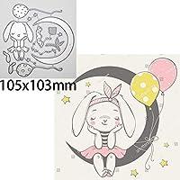 動物の人形の死んだ月の星のウサギの女の子の切断ダイのためのスクラップブッキングDiyエンボス加工のカットクラフトダイバーバルーンダイ (色 : A)