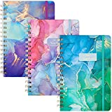EOOUT 3 Pack Spiral Notebook Hardcover Spiral Journal, 5.5'x8.3' 80 Sheets College Ruled, Quicksand Pattern for School Office Home