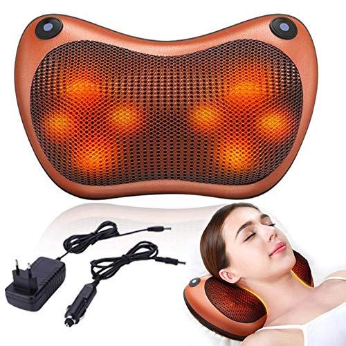 Rückenmassagegerät Nackenmassagegerät Elektrisch Massagegeräte für Schulter Rücken mit Wärmefunktion 3D-Rotation Massage Einstellbaren Geschwindigkeiten für Haus Büro Auto