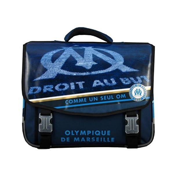 Olympique de Marseille Cartable Mixte Enfant, Bleu, 41 cm 1