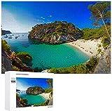 TLMYDD Menorca Beach Spain Pascición De Madera Puzzles 1000 Pieza para Adultos Home Wall Art Decor Game Toys Regalo 20'X30 Día de San Valentín Presente