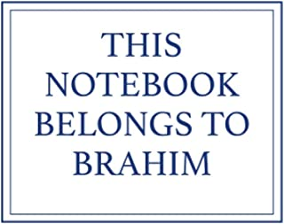 This Notebook Belongs to Brahim