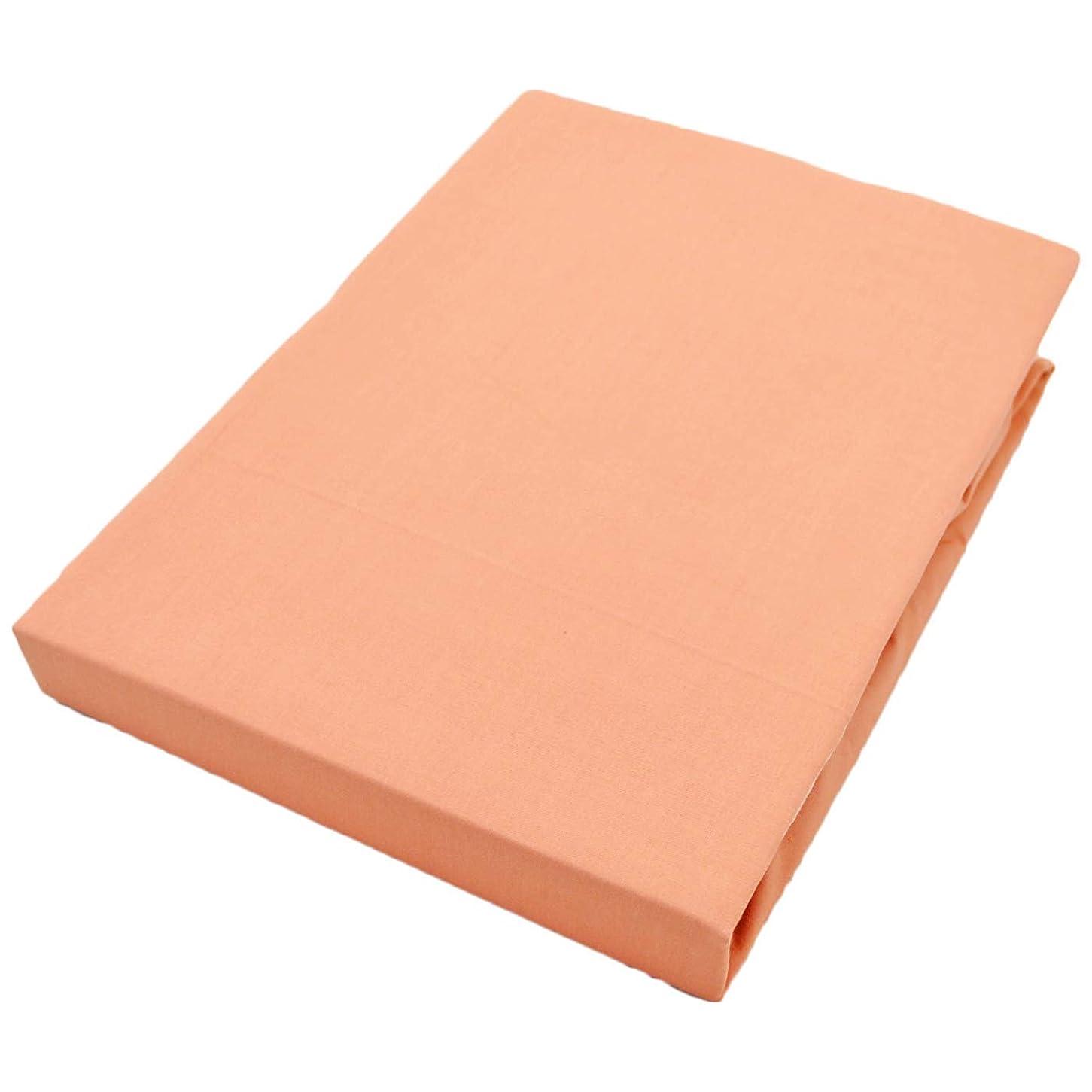 そのネブ管理するボックスシーツ シングル 綿100% 日本製 100X200X30cm コーラルピンク