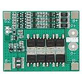 Carte de protection de batterie au lithium, carte de protection de batterie au lithium 3S 12V 40A Carte de circuit imprimé BMS avec charge d'équilibrage équipée d'une ailette en aluminium épaissie