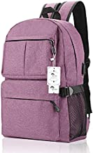 Laptop Backpack, College Backpack 15 15.6 Inch Laptop Bag with USB Charging Port Light Weight Travel Backpack for Women Men by Winblo