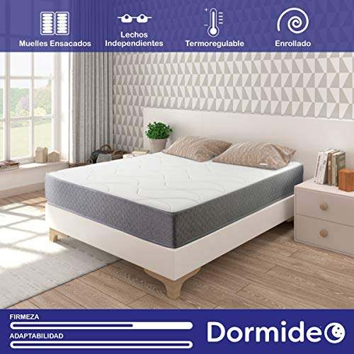 DORMIDEO Metropolitan - Colchón de muelles ensacados 150x200
