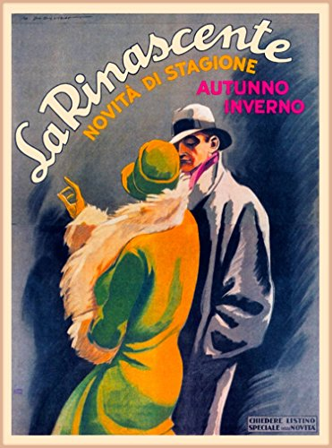 A SLICE IN TIME La Rinascente Novita Di Stagione Milan Italy Vintage Travel Collectible Home Wall Decor Advertisement Art Poster Print. 10 x 13.5 inches.