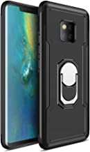 iKuboo Dual Layer Case for Huawei Mate 20 Pro, Slim Protective Cover with Ring Holder Kickstand, Work with Magnetic Car Mount Black XKSKU0001501