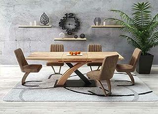 Sellon24/Signal Sandor 3 160-220 Table de salle à manger extensible en chêne Noir