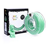 Print with Smile, filamento 3D in PLA, 1,75 mm, 1 kg, 1 kg, verde chiaro, 19...