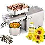 RBAYSALE Prensa eléctrica de Aceite 700W Automatico de Acero Inoxidable Máquina de Prensa de Aceite Tasa de Extracción de Aceite: hasta≥40% para Gran Variedad de Semillas